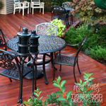 Outdoor Furniture on a Tigerwood Deck