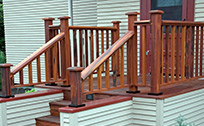 tigerwood railing